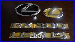 01-03 Oem New Lexus Rx300 Emblem Chrome Kit Complete 5 Pcs 2001 2002 2003