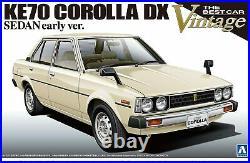 1/24 The Best Car Vintage Series Toyota KE70 Corolla Aoshima Plastic Model Kit