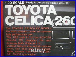 1983 Toyota Celica XX 2600G Gunze Sangyo 1/20 Japan Car Model Kit Rare Vintage
