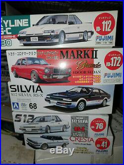 (5) Fujimi Aoshima JDM HONDA TOYOTA NISSAN S13 SKYLINE 1/24 Model Kits US Seller