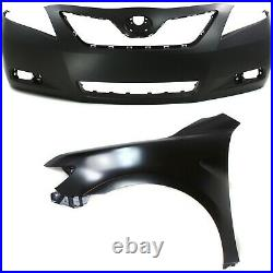 5211906919, 5380206120 New Bumper Covers Facials Set of 2 Front for Camry Pair