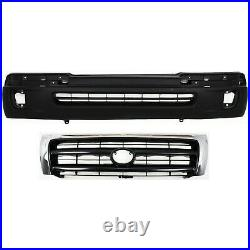 5310004100 New Bumper Covers Facials Set of 2 Front for Toyota Tacoma 98-00 Pair