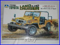 Aoshima 1/20 Vintage Toyota Land Cruiser BJ40 Scale Crawler NIB