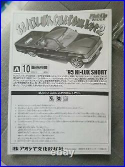 Aoshima 1/24 No. 10 Toyota 80 Hilux Custom Ver 2 Lowrider Pickup Truck