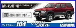 Aoshima 1/24 Toyota VZN130G Hilux Surf SSR-X Wide Body'91 Plastic Model Kit NEW