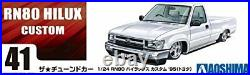 Aoshima 1/24 Tuned Car Ser. No. 41 Toyota Hilux RN80 1995 model from JAPAN #wd4