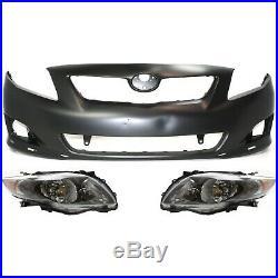 Auto Body Repair For 2009-2010 Toyota Corolla Front Primed Bumper Cover