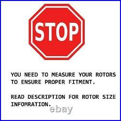 Brake Rotors + Brake Pads Toyota Rav4 V6 Models Front Rotor Pad Brakes Kit