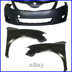 Bumper Cover Kit For 2010-2011 Camry Front 3pc