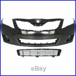 Bumper Cover Kit For 2010-2011 Toyota Camry Front Sedan For USA Built Models 2pc