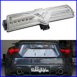 CLear LED Rear Bumper Reverse Brake Fog Light Lamp For Scion FRS 86 Subaru BRZ