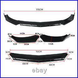 Carbon Fiber Universal Car Front Bumper Lip Chin Spoiler Splitter For Honda BMW