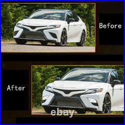 Fits 2018-2020 Toyota Camry SE XSE White Amber Blue DRL + LED Fog Lights Kit Set