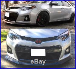 For 2014-2016 Toyota Corolla S Model GT Style Front Bumper Lips Spoiler Body Kit