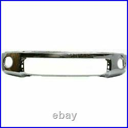 Front Bumper Chrome Steel + Upper Cover Primed For 2007-2013 Toyota Tundra