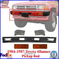 Front Bumper Kit + Signal Lamps For 1984-1987 Toyota 4Runner / Pickup 4wd