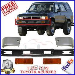 Front Bumper Kit + Signal Lights For 1984-89 Toyota 4Runner / 84-1988 Pickup 4wd
