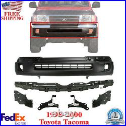 Front Bumper Primed + Brackets & Reinforcement For 1998-2000 Toyota Tacoma 4WD