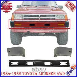 Front Bumper Primed End Caps LH+RH For 1984-1988 Toyota 4Runner / 4WD Pickup