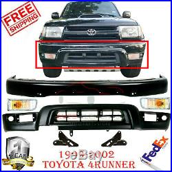 Front Bumper Primed + Valance + Lights + Bracket For 1999-2002 Toyota 4Runner