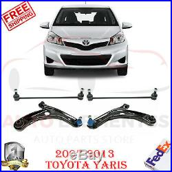 Front Lower Control Arm with Ball Joints + Sway Bar For 07-13 Toyota Yaris LH+RH