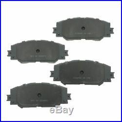 Front & Rear Premium Posi Ceramic Pads Rots & Hardware Kit for Pontiac Toyota
