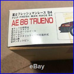 Fujimi TOYOTA AE 86 TRUENO FUJI FRESH MAN RACE'84 Model Kit Vintage #11382