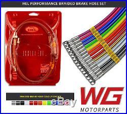 HEL Performance Braided Brake Line Kit Toyota Glanza 1.3T EP91 (1996-99) Models