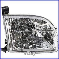 Headlights & Parking Corner Lights Left & Right Kit Set for 00-04 Toyota Tundra