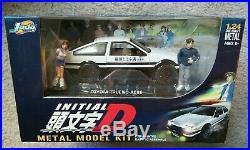 Initial D Metal Model Kit 124 Diecast Toyota Trueno AE86 RARE By Jada Toys