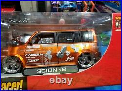Jada Toys Die Cast 124 Import Racer Garage WorxMetal Model Kit Orange Scion xB