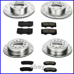 K138 Powerstop 4-Wheel Set Brake Disc and Pad Kits Front & Rear New for 4 Runner