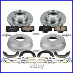 KOE15097DK Powerstop Brake Disc And Drum Kits 4-Wheel Set New for Toyota Tacoma