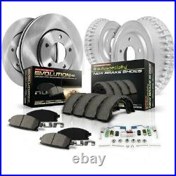 KOE15231DK Powerstop 4-Wheel Set Brake Disc And Drum Kits Front & Rear New