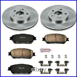 KOE5438 Powerstop 2-Wheel Set Brake Disc and Pad Kits Front New for Toyota Camry