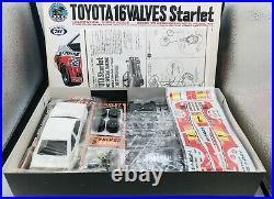 Marui 1/24 Toyota 16Valves Starlet #7 Item MT78 W20 Vintage Model Kit