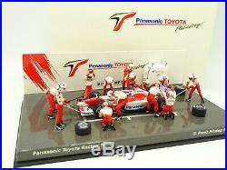 Minichamps 1/43 F1 Pit Stop Diorama Toyota Panasonic TF103 Panis