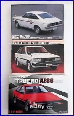 N&H, Imai, Fujimi 1/24 Scale Sunny Coupe, Toyota Corolla 1600GT, Toyota Trueno