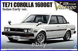NEW 1/24 The Best Car Vintage Series No. 38 Toyota TE71 Corolla sedan 1600GT F/S