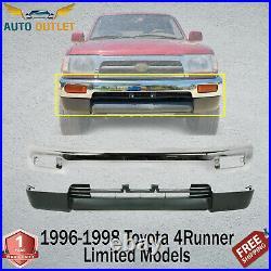 New Front Bumper Chrome Steel +Valance For 96-1998 Toyota 4Runner Limited Models
