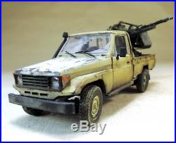 PRO-BUILT 1/35 Toyota Flak Technical, War in Syria, finished model (IN STOCK)