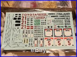 Profil 24 124 Toyota Celica Twincam Safari 84 85 86 Not Aoshima Beemax Tamiya