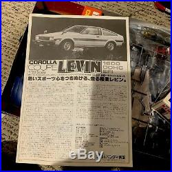 RARE! VINTAGE Bandai 1/20 Scale TOYOTA Corolla Levin Liftback 1600GT