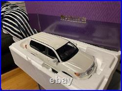 Rare Items Samurai 1/18 Kyosho Toyota Land Cruiser AX G Selection WHITE