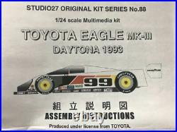 STUDIO 27 124 TOYOTA EAGLE Mk-III 1993 DAYTONA 24 HOURS WINNER MODEL KIT