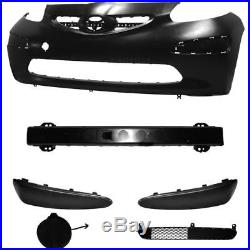 Set Kit Bumper Front Primed+Support+Accessories for Toyota Aygo Built 05-09