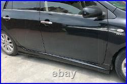 Side Skirt Rocker Panel Body Kit For Toyota Corolla Sedan 2008-2013 All Models