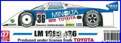Studio27 1/24 TOYOTA 89C-V MINOLTA LM 1989 #36 FK-2470R Original Kit from Japan