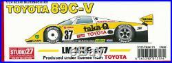 Studio27 1/24 TOYOTA89C-V taka-Q LM 1989 #37 FK-2471R Original Kit from Japan