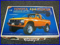 Super Rare! Vintage Nichimo 1/20 Toyota Pickup Hilux 4wd Kit + Motor Nib